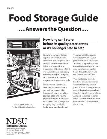 FN-579 Food Storage Guide [2006]