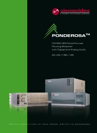 Ponderosa™ - routing switchers - Sierra Video