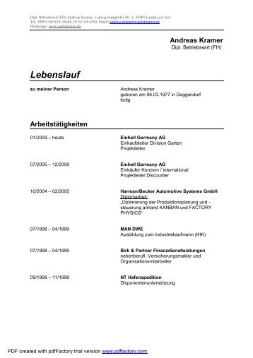 Lebenslauf als pdf-file downloaden - andykramer.de
