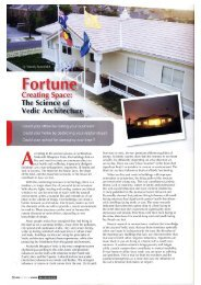 Magazine Article - Fortune Creating Space - Vedic Architecture