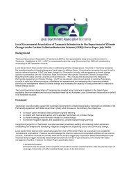 Local Government Association of Tasmania Submission to the ...