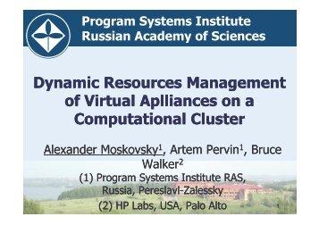 (Microsoft PowerPoint - Moskovsky_VHPC_08_v1.ppt ) - Unicore
