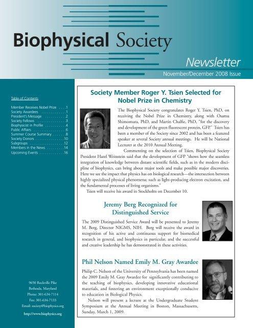 NovDec--08:Layout 1.qxd - Biophysical Society
