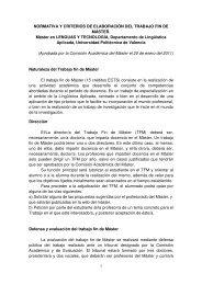 Normativa del Trabajo Fin de Master - Universidad Politécnica de ...