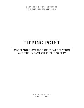 TIPPING POINT - Justice Policy Institute