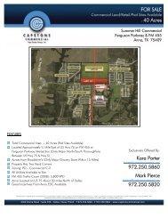 Kara Porter 972.250.5860 Mark Pierce 972.250.5820 ... - Property Line