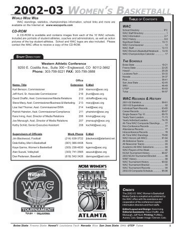 Media Guide.pdf - Western Athletic Conference