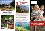 Prospekt zum Streichelzoo Moosalm - Lienzer Bergbahnen AG