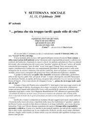 Settimana Sociale 2008 - Terza Scheda - Azione Cattolica Italiana