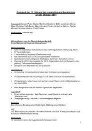 Protokoll der 13. Sitzung des Jugendforums Bergkirchen am 20 ...