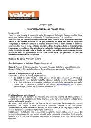 CORSO 1 FINANZA ETICA - Impronta Etica