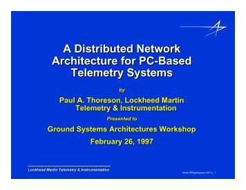 A Distributed Network Architecture for PC-Based Telemetry Systems
