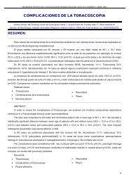 COMPLICACIONES DE LA TORACOSCOPIA - Neumosur
