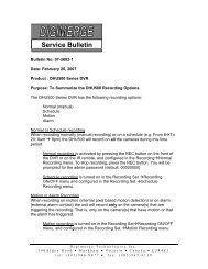 Bulletin 07-2602-1 DHU Recording Options - Digimerge