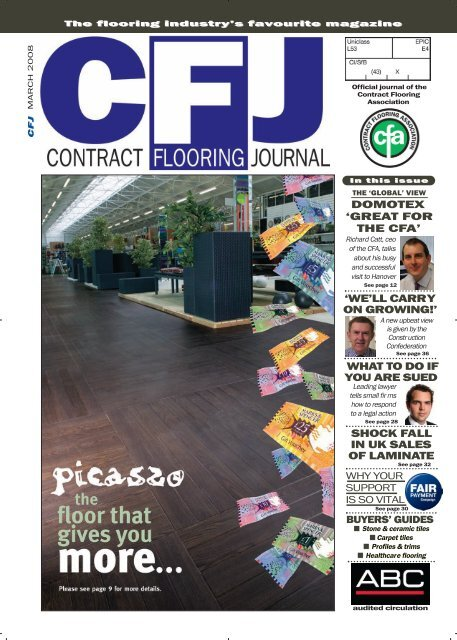 Cfj Mar 08 Cover Cfj Dec Cover Contract Flooring Journal