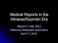 Judge Allyson Hall - California Orthopaedic Association