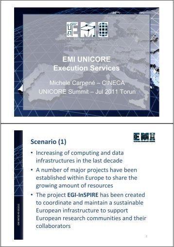 EMI UNICORE Execution Services Scenario (1)