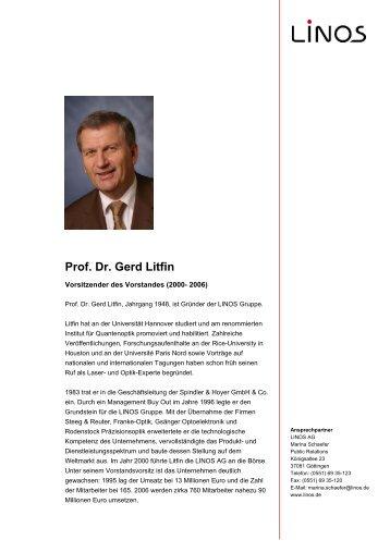 Prof. Dr. Gerd Litfin