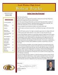 Bobcat Tracks - October 2010 - South Windsor Public Schools