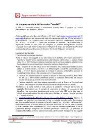 esodati - Centro Studi Lavoro e Previdenza