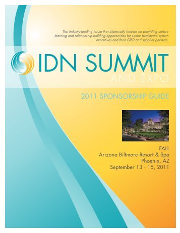 2011 SPONSORSHIP GUIDE - IDN Summit and Expo