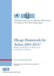 Hyogo Framework for Action 2005-2015: - unisdr