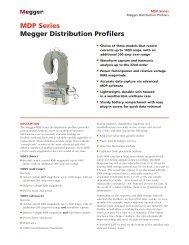 MDP Series Megger Distribution Profilers - Surgetek