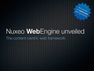 The content-centric web framework - Nuxeo Community