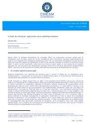 L'état du dossier agricole euro-méditerranéen