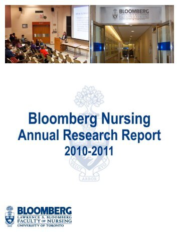 2010-2011 Research Report - Lawrence S. Bloomberg Faculty of ...