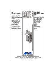 kit serie 7 italia modificheING.p65 - DI.BI. Porte Blindate