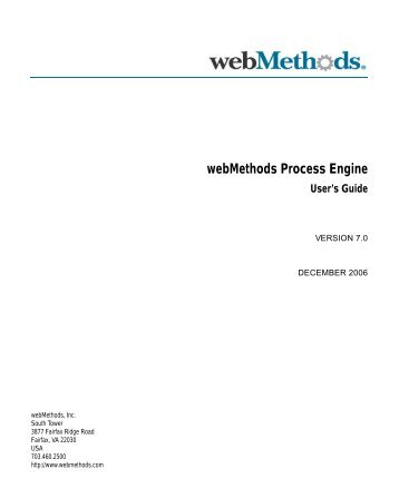 webMethods Process Engine User's Guide - Software AG ...