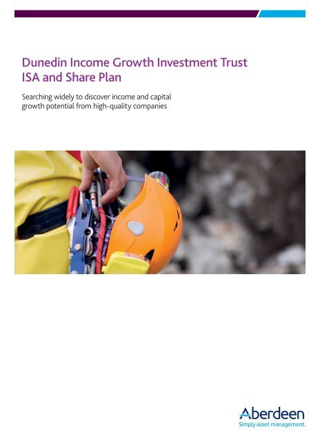 Dunedin Income Growth Investment Trust ISA and Share Plan