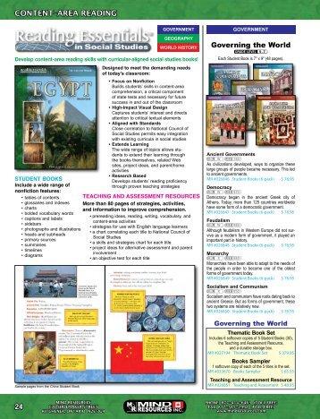 Content-Area Reading (Social Studies) (pages 24 ... - Mind Resources
