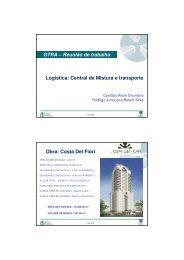 GTRA – Reunião de trabalho Logistica: Central de Mistura e ...