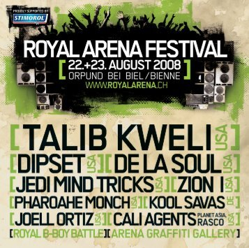 Offizielles Booklet 2008 (PDF / 25.6 MB) - Royal Arena Festival