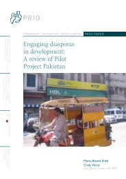 A review of Pilot Project Pakistan - PRIO