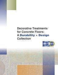 Decorative Treatments for Concrete Floors: A ... - PaintSquare