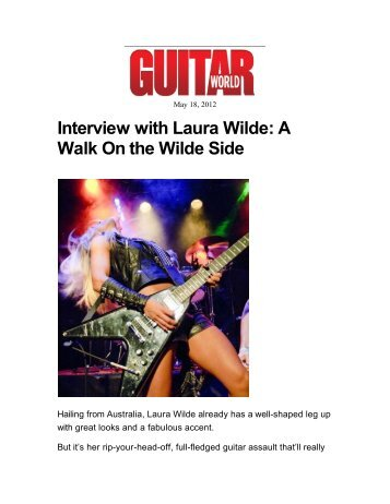 Laura Wilde Interview - Guitar World.com - Kayos Productions