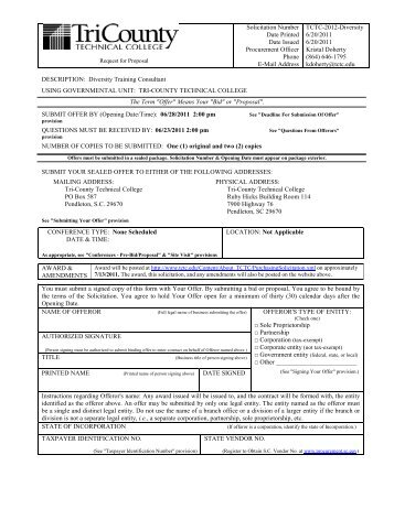 Solicitation Number Date Printed Date Issued Procurement Officer ...