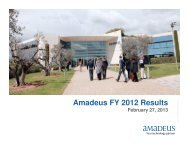 Amadeus FY 2012 Results - Investor relations at Amadeus