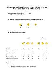 Auswertung der Fragebögen - Br-arbeitskreis-sapnt.de