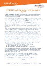 ING DIRECT Cover Letter - FST Media