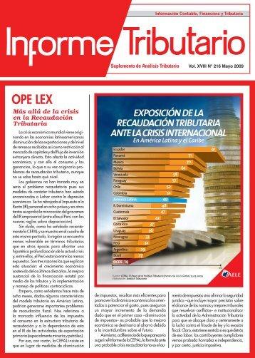informe tributario - AELE