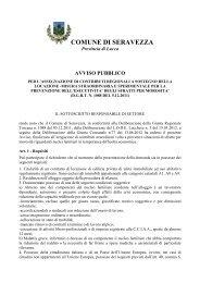 avviso pubblico - Comune di Seravezza