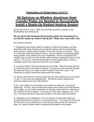 64 Opinions on Whether Aluminum Heat- Transfer ... - Heating Help