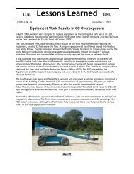LLNL Lessons Learned LLNL - UCI Environmental Health & Safety