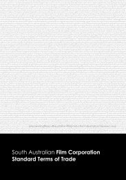 (SAFC) Standard Terms of Trade - South Australian Film Corporation