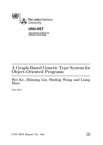 A Graph-Based Generic Type System for Object-Oriented Programs