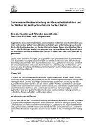 Medienmitteilung lesen - Suchtprävention im Kanton Zürich